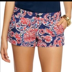 Lilly Pulitzer the Walsh shorts paisley blue /pink